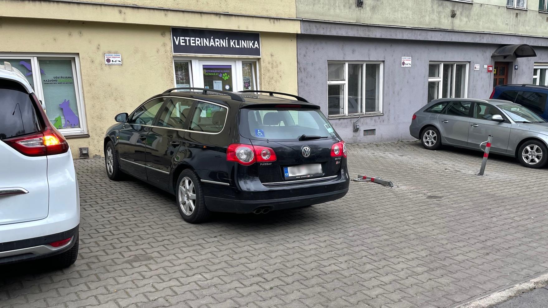 Jak zaparkovat u naší kliniky Premiumvet
